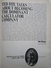 2/1972 PUB UNICOM SYSTEMS CUPERTINO CALCULATOR ORIGINAL AD