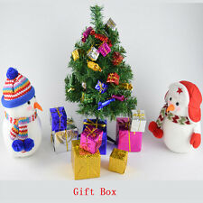 12PCS Shinny Gift Boxes Package Party Christmas Tree Hanging Decor Xmas Ornament
