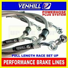 HONDA CB1000R 2008-15 (No ABS) VENHILL stainless steel braided brake line kit CL