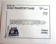 Original 1980s Space:1999 Eagle Blueprint Set-2 Fold Out Sheets/Envelope w Patch