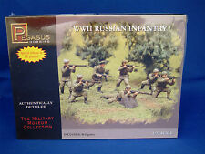 PEGASUS HOBBIES 7498 WWII RUSSIAN INFANTRY 40 FIGURES 1:72 SCALE - SEALED BOX