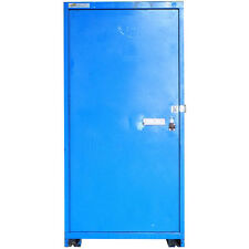 "Stanley Vidmar 30"" x 28"" x 60"" Blue 1-Door Industrial 1-Shelf Storage Cabinet"