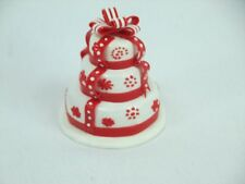 Handmade Clay Scale Miniature Dollhouse 3 Tiers miniature wedding cake # no.1