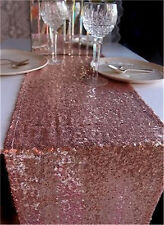 "10PCS 13""*108"" Blush Sequin Table Runner ,Wedding Party Christmas Decoration"