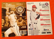 2016 Topps Bunt Physical 5x7 Program Gold (#/10 Made) BRYCE HARPER - Nationals