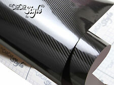 5D Gloss Ultra Shining【BLACK 750mm x 2000mm】Carbon Fibre Vinyl Wrap Sticker