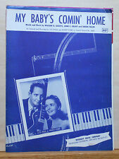 My Baby's Comin' Home - 1952 sheet music - Les Paul & Mary Ford photo cover