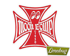 """Mooneyes Red Iron Cross Decal Sticker Stickers Maltese Equipped 3"""" VW Camper"""