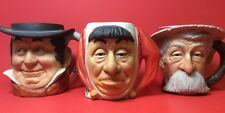 Norman Rockwell Toby Mugs (lot of 3) Saturday Evening Post Dave Grossman 1979