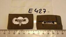 Fallschirmspringer Abzeichen USA weiß auf oliv für Bundeswehr 1 Stück (e427-)