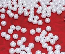 50 Perlen perlmutt weiß Hochzeit Wachsperlen 10mm zum Auffädeln Dekoperlen