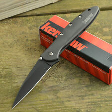 Kershaw Ken Onion Leek Black Assisted Open 14C28N Framelock Knife 1660CKT