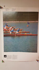 VINTAGE 1976 MONTREAL OFFICIAL COJO OLYMPICS POSTER ROWING & GRAPHICS COLLECTION