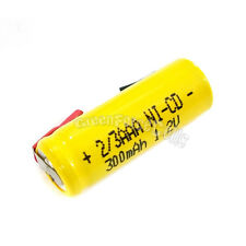 10 pcs 2/3 AAA 2/3AAA Ni-Cd 300mAh 1.2V Rechargeable Battery With Tab Yellow