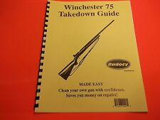 TAKEDOWN MANUAL GUIDE WINCHESTER 75 BOLT ACTION RIFLE