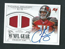 Charles Sims Buccaneers 2014 National Treasures NFL Gear Dual Jersey Auto /99