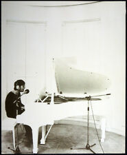 THE BEATLES POSTER PAGE JOHN LENNON AT PIANO IMAGINE ERA . F18