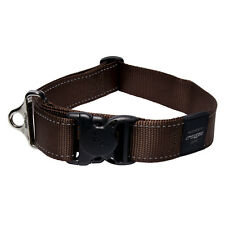 Rogz Dog Collar Utility S/R - Landing Strip XX-Large 20in-32in neck - Brown