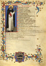 Illuminated Manuscript Page: St. Dominic: Fine Art Print