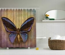 Huge Butterfly Graphic Shower Curtain Rustic Letter Background Wings Bath Decor