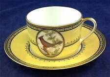 Royale (France) KING'S GARDEN YELLOW Breakfast Cup & Saucer Set CARDINAL