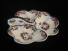 Masons Ironstone Mandalay Blue Trefoil Hors d'oeuvres Relish Dish Excellent Cond