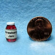 Dollhouse Miniature Jar of Strawberry Jam