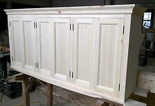 Solid pine kitchen wall cupboard 6 doors