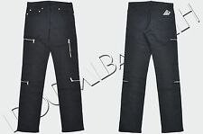 DIOR HOMME 1000$ Authentic New Skinny Blue Cotton Blend Zip Pockets Jeans sz 29