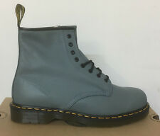 DR. MARTENS 1460  FADED DENIM BROADWAY    LEATHER  BOOTS SIZE UK 12