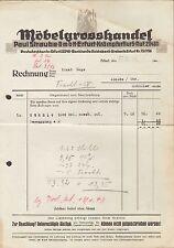 ERFURT, Rechnung 1942, Möbelgrosshandel Paul Straube GmbH