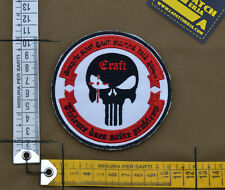 "Ricamata / Embroidered Patch ""Craft Chris Kyle"" Red with VELCRO® brand hook"