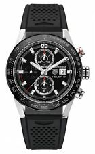 Tag Heuer Carrera Calibre Heuer 01 43mm Steel/Rubber Men's Watch CAR201Z.FT6046