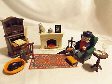 Playmobil Victorian Grandpa's Den #5310,  Mansion 5300  Doll House Furniture