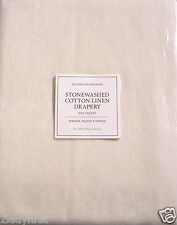 "2 Restoration Hardware STONEWASHED COTTON LINEN Rod Pocket Drapes~50x120""~IVORY"