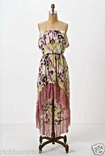 NEW $88 Anthropologie Maxi Midi Dress Lilka Sweet Pea Mesh Strapless hi lo M