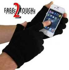2 PAIRS OF MENS FINGERLESS MAGIC GLOVES IN BLACK ONE SIZE WINTER WARMTH