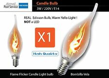 X1 3W E14 Flame incandescent Candle Flicker Light Bulb Decorative Lamp bombilla