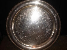 "VINTAGE WILCOX INTERNATIONAL SILVER CO. ""ASHLEY""  # 7071 ROUND TRAY  13 1/4 IN."