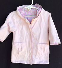 La Petite Ourse Miniman 12Mo. Pink Hooded Raincoat Light Shell Jacket