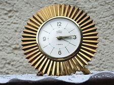 """Original MARWA Sonnen Design Tischuhr Messing Uhr 50/60er Schreibtisch Wecker """""""
