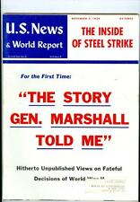 1959 U.S. News & World Report:The Story Gen Marshall Told Me/Inside Steel Strike