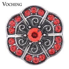 Vocheng Snap Charms 18mm 3 Colors Vintage Crystal Button Vn-1297