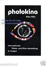 Photo und Kino Ausstellung photokina Köln Reklame von 1954 Foto Messe fair ad ßß