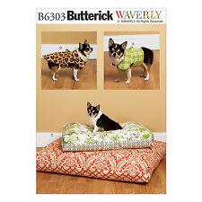 Butterick 6303 Sewing Pattern to MAKE Dog Jackets & Pet Cushions - Sm-XL
