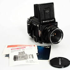 Mamiya RB67 ProS Film Camera w 120 Back, Instructions, 127mm F3.8 C Lens Bundle