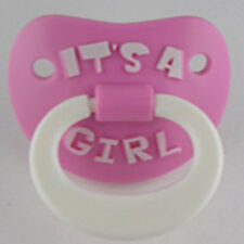 It's A Girl Pacifier by Billy Bob infant baby shower gift Orthodontic Nipple NEW