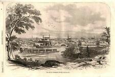 View of Petersburg, Virginia   -  Civil War -  Original Antique Print   - 1862