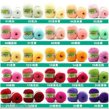 10X  Cashmere wool Silk Protein baby Yarn Cotton Baby Wool Hand-knitted 50g/pc