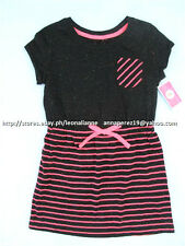 53% OFF! CIRCO KID'S PINK/BLACK STRIPED TEE SHIRT DRESS SMALL BNWT $14.99
